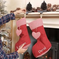 Personalised Quilted Red Christmas Stocking