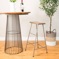 Industrial Vintage Flat Top Dutch Barstool
