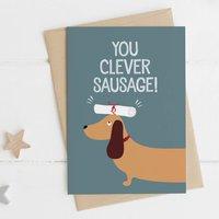 Clever Sausage! Exam / Graduation Congrats Card