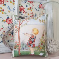 Vintage Story Book Illustration Fragranced Pillow