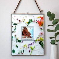 Personalised Floral Heart Photo Hanging Frame