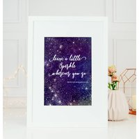 Leave A Little Sparkle Personalised Astrology Print