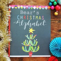 Personalised Christmas Alphabet Book