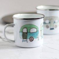 Vintage Caravans Enamel Mug