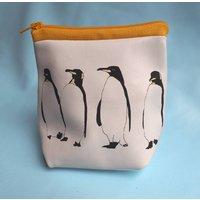 Penguins Soft Leather Purse