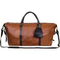 Personalised Two Tone Leather Armada Duffle Holdall