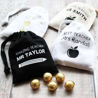 Thank You Teacher Personalised Mini Gift Bags