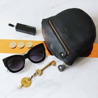 Personalised Crossbody, Clutch And Bum Bag In One, Black/Tan/Grey