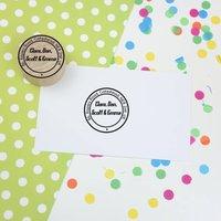 Personalised Postmark Style Return Address Rubber Stamp