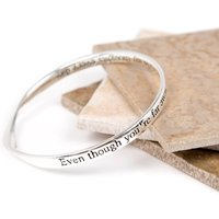 Even Though Youre Far Away Message Bangle, Yellow/Gold/Rose Gold