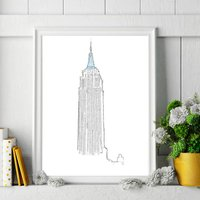 Empire State Building Signed Print