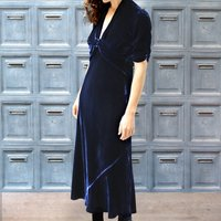 Velvet Maxi Dress Midnight Blue