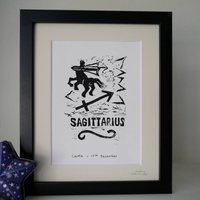 Sagittarius Star Sign Personalised Print