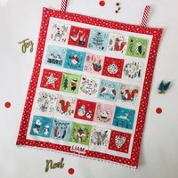 Personalised Handmade Fabric Animal Advent Calendar