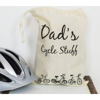 Personalised Dad's Sport Hobby Bag, White