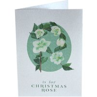Silver Christmas Card Christmas Rose
