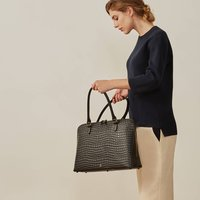 Ladies Leather Macbook Briefcase Fiorella Croco