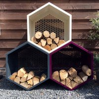 Log Store Pods, White/Aubergine/English Green