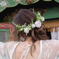 Lana Half Flower Crown Wedding Hair Comb