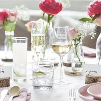 Personalised Mother Of The Bride Wedding Glass