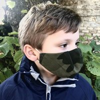 Childrens Silk Lined Upcycled Cotton Face Mask