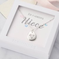 Personalised Necklace For Niece With Birthstone