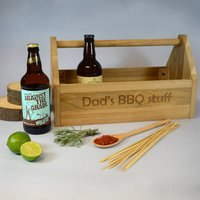 Personalised Wooden Trug Beer And Bbq