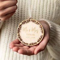 Personalised Christmas Wreath Bauble Decoration