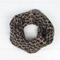 Leopard Knitted Snood/Cowl