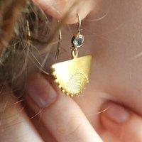 Handmade Half Moon Drop Earrings