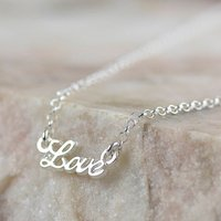 Love Graphic Sterling Silver Bracelet Or Necklace, Silver