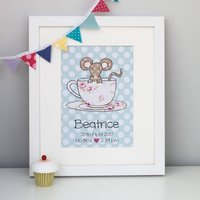 Mouse Personalised Children's Print