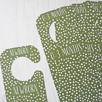 Babys Wardrobe Clothing Dividers   Green