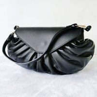 Candy Slouchy Leather Handbag Black