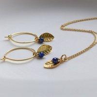 Lapis Lazuli And Leaf Jewellery Set