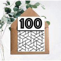 100 Printed Birthday Card