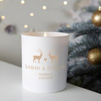 Personalised Christmas Candle Wedding