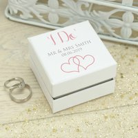 Personalised 'I Do' Wedding Ring Box