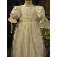 Christening Gown Beatrice, Ivory/White
