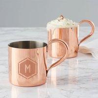 Personalised Geometric Copper Mug