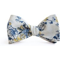 Abbey Yellow And Blue Floral Bow Tie, Blue