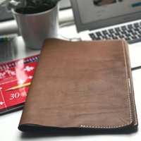 Leather Notebook Document Cover