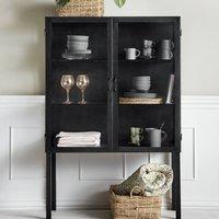 Black Iron Buffet Style Cabinet