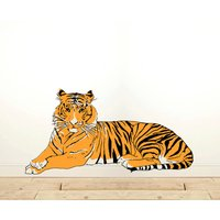 Wall Sticker Tiger Lying Down