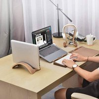 Protective Wooden Vertical Laptop Stand