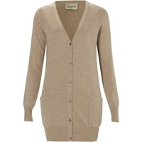 Covetable Cotton, Wool And Cashmere Cardigan, Ivory/Black