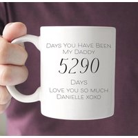 Days You Have Been My Daddy Personalised Mug