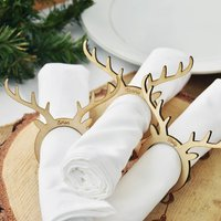 Christmas Personalised Napkin Rings Placecards Set