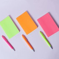 Neon Set Of Three Notebook Matched With Neon Pop Pens