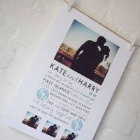 Personalised Photo Love Story Valentines Print